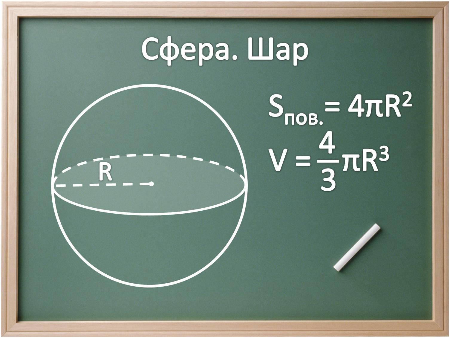 презентацию решение задач по теме сфера и шар 11 класс